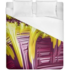 Yellow Magenta Abstract Fractal Duvet Cover (california King Size) by Nexatart