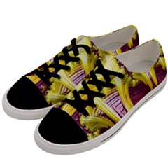 Yellow Magenta Abstract Fractal Men s Low Top Canvas Sneakers by Nexatart