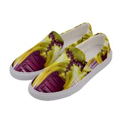 Yellow Magenta Abstract Fractal Women s Canvas Slip Ons by Nexatart