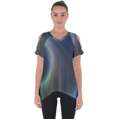 Gloom Background Abstract Dim Cut Out Side Drop Tee
