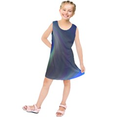 Gloom Background Abstract Dim Kids  Tunic Dress by Nexatart