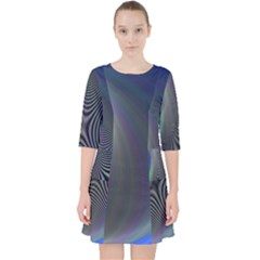 Gloom Background Abstract Dim Pocket Dress