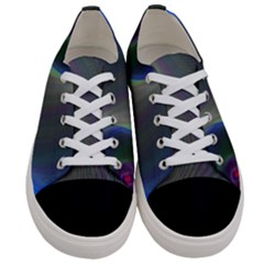 Gloom Background Abstract Dim Women s Low Top Canvas Sneakers