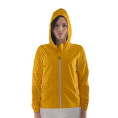 Texture Background Pattern Hooded Wind Breaker (women)