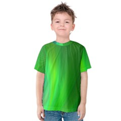Green Background Abstract Color Kids  Cotton Tee