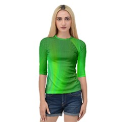 Green Background Abstract Color Quarter Sleeve Raglan Tee by Nexatart