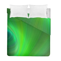Green Background Abstract Color Duvet Cover Double Side (full/ Double Size) by Nexatart