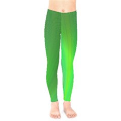 Green Background Abstract Color Kids  Legging