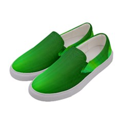 Green Background Abstract Color Women s Canvas Slip Ons by Nexatart