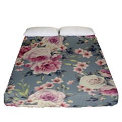 Pink Flower Seamless Design Floral Fitted Sheet (california King Size)