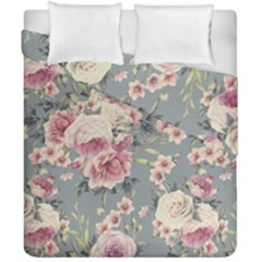 Pink Flower Seamless Design Floral Duvet Cover Double Side (california King Size) by Nexatart