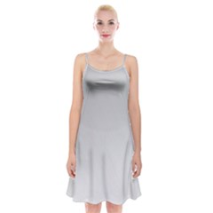 White Background Abstract Light Spaghetti Strap Velvet Dress