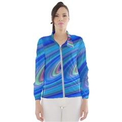 Oval Ellipse Fractal Galaxy Wind Breaker (women)