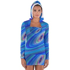 Oval Ellipse Fractal Galaxy Long Sleeve Hooded T Shirt
