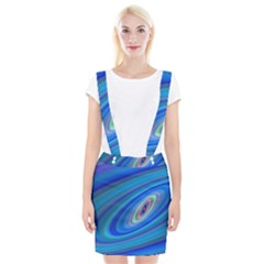 Oval Ellipse Fractal Galaxy Braces Suspender Skirt