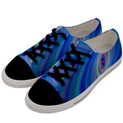 Oval Ellipse Fractal Galaxy Men s Low Top Canvas Sneakers by Nexatart
