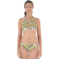 Rose Pattern Roses Background Image Perfectly Cut Out Bikini Set