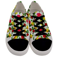 Rose Pattern Roses Background Image Men s Low Top Canvas Sneakers