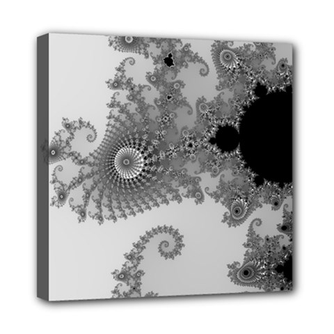 Apple Males Mandelbrot Abstract Mini Canvas 8  X 8