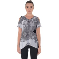 Apple Males Mandelbrot Abstract Cut Out Side Drop Tee