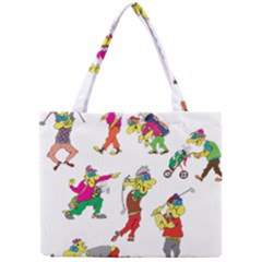 Golfers Athletes Mini Tote Bag by Nexatart