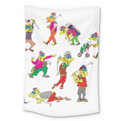 Golfers Athletes Large Tapestry