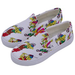 Golfers Athletes Kids  Canvas Slip Ons by Nexatart