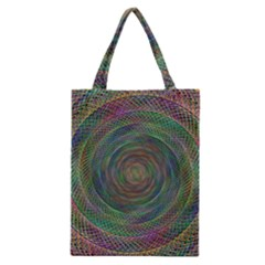 Spiral Spin Background Artwork Classic Tote Bag by Nexatart