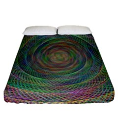 Spiral Spin Background Artwork Fitted Sheet (queen Size) by Nexatart
