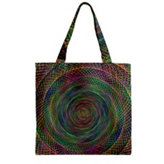 Spiral Spin Background Artwork Zipper Grocery Tote Bag by Nexatart
