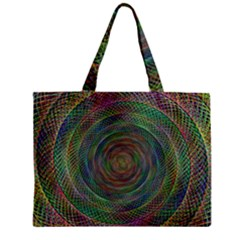 Spiral Spin Background Artwork Zipper Mini Tote Bag by Nexatart