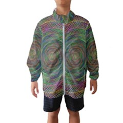Spiral Spin Background Artwork Wind Breaker (kids)
