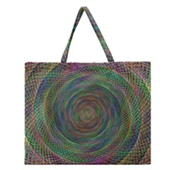 Spiral Spin Background Artwork Zipper Large Tote Bag by Nexatart