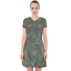 Spiral Spin Background Artwork Adorable In Chiffon Dress by Nexatart