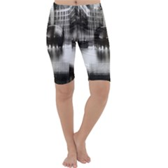 Black And White Hdr Spreebogen Cropped Leggings  by Nexatart