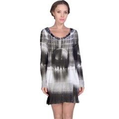Black And White Hdr Spreebogen Long Sleeve Nightdress