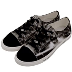 Black And White Hdr Spreebogen Men s Low Top Canvas Sneakers by Nexatart