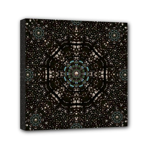 Pearl Stars On A Wonderful Sky Of Star Constellations Mini Canvas 6  X 6  by pepitasart