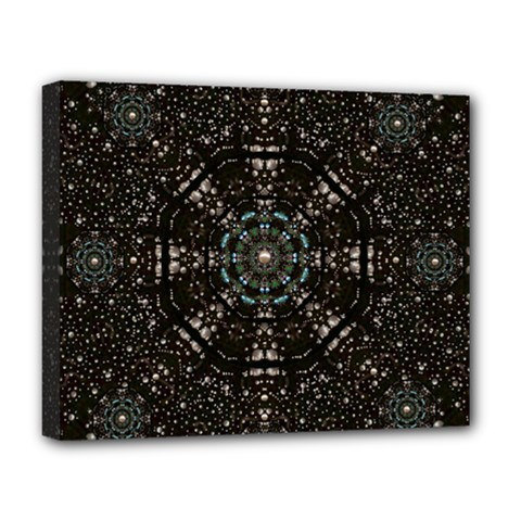 Pearl Stars On A Wonderful Sky Of Star Constellations Deluxe Canvas 20  X 16   by pepitasart