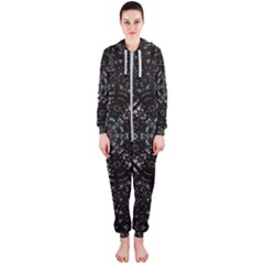 Pearl Stars On A Wonderful Sky Of Star Constellations Hooded Jumpsuit (ladies)