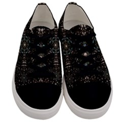 Pearl Stars On A Wonderful Sky Of Star Constellations Men s Low Top Canvas Sneakers