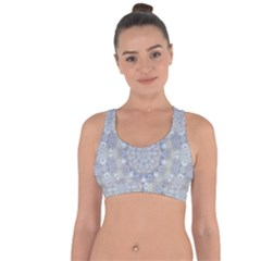 Flower Lace In Decorative Style Cross String Back Sports Bra by pepitasart