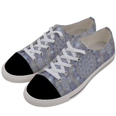 Flower Lace In Decorative Style Women s Low Top Canvas Sneakers by pepitasart