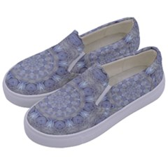 Flower Lace In Decorative Style Kids  Canvas Slip Ons by pepitasart