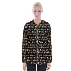 Hotwife Vixen With Butterfly In Gold On Black Womens Long Sleeve Shirt