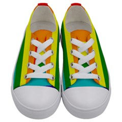 Colorful Stripes Lgbt Rainbow Flag Gay Pride Kids  Low Top Canvas Sneakers