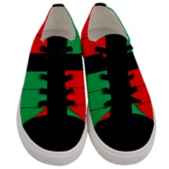 Kwanzaa Colors Striped Pattern Red Black Green Men s Low Top Canvas Sneakers