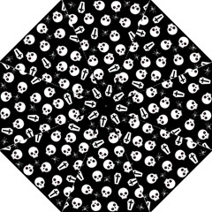 Skull, Spider And Chest    Halloween Pattern Straight Umbrellas by Valentinaart