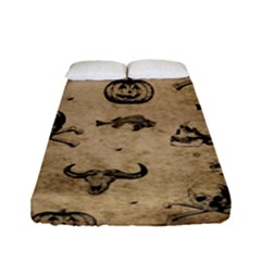 Vintage Halloween Pattern Fitted Sheet (full/ Double Size) by Valentinaart