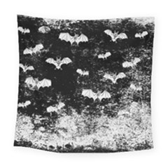 Vintage Halloween Bat Pattern Square Tapestry (large)